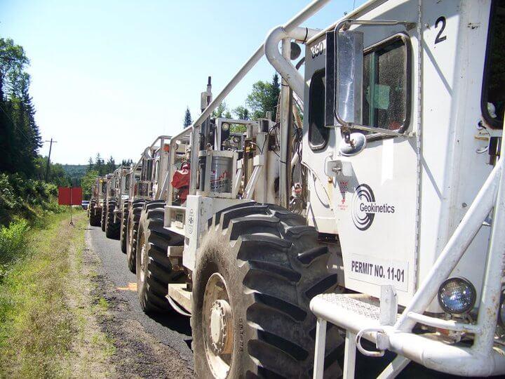 seismic trucks