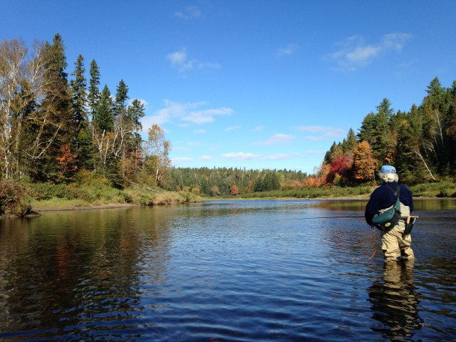 Cains River, Salmon Brook Pool, N.B., along the pipeline's route.