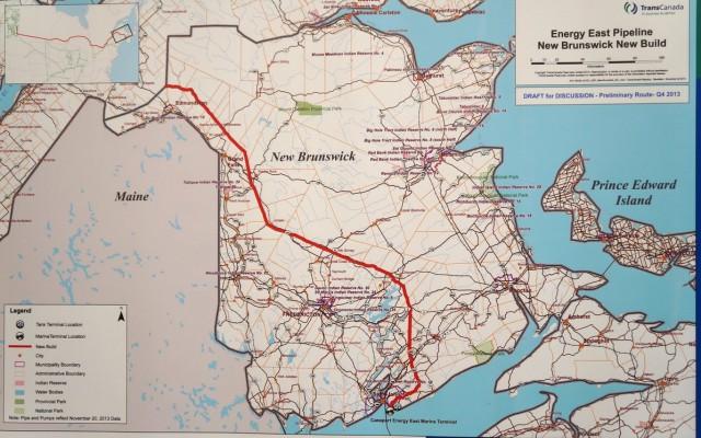 TransCanada's Energy East Pipeline route through N.B.