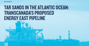 "Energy East's ""aquatic pipeline"" a serious risk to the Bay of Fundy."