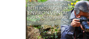 Call for Nominations: Environmental Journalism Award