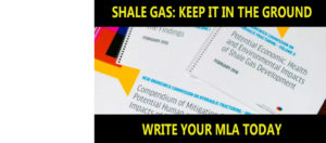 Say no to shale gas in N.B. — send your letter today!
