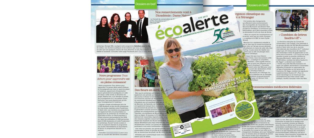 L'édition spéciale sur le changement climatique et la santé de notre magazine ÉcoAlerte est prête!