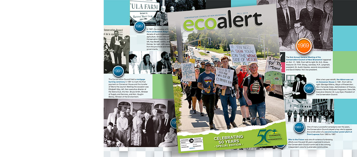 Celebrate 50 years of environmental action with our special anniversary edition of EcoAlert!