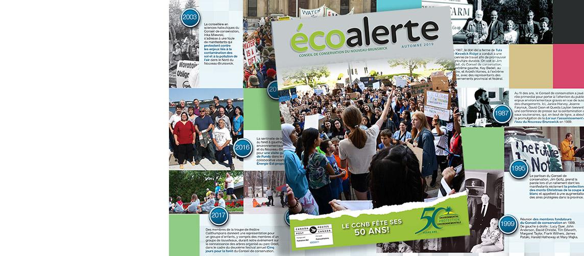 Célébrez 50 ans d'action environnementale avec notre édition spéciale anniversaire EcoAlert!
